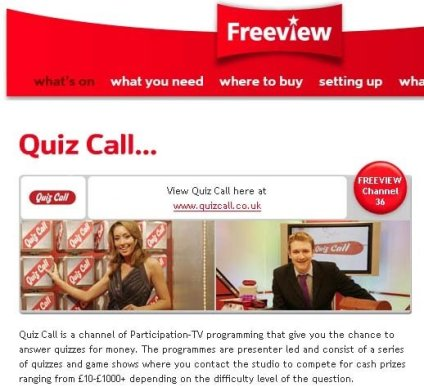 Freeview Website - Derek Gibbons