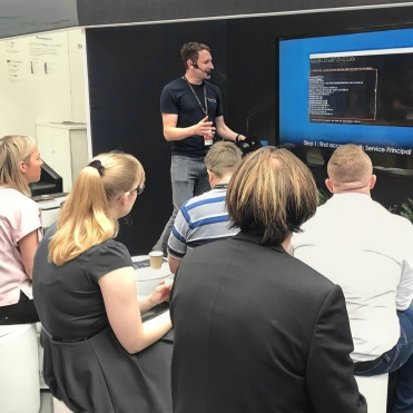 Derek Gibbons presents for Varonis at Infosec 2019